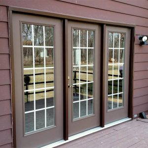 House Exterior with New Doors
