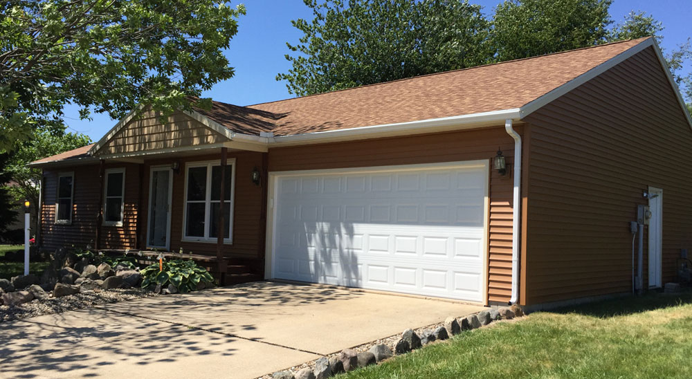 House exterior with new siding