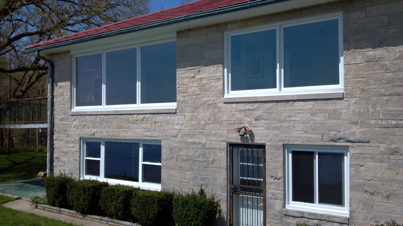 House exterior with new windows